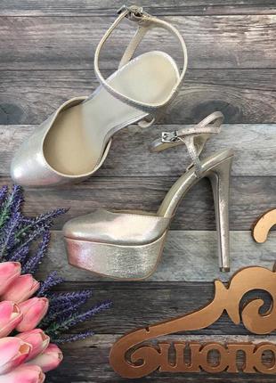 Нарядные туфли стрипы asos с блестящим напылением  sh2819  asos