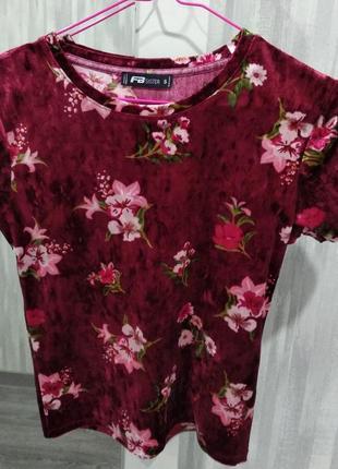 Яркая футболка в цветочный принт fb sister
