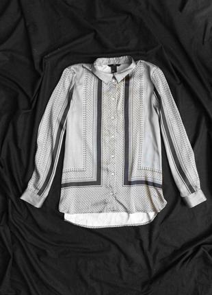 Блуза атласная h&m