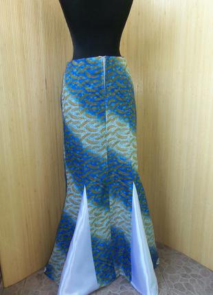 Женственная длинная  юбка колокол  из тонкого хлопка s-m в этно стиле бо-хо3 фото