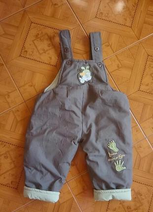 Теплые штаны на мальчика 12-18 месяцев