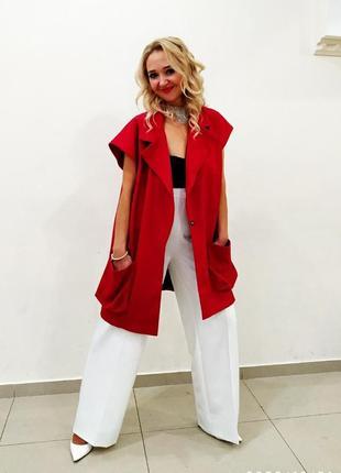 Шикарные белые брюки палаццо нарядные