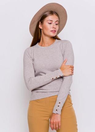 Нежный и мягкий пуловер брит укр. 42-44 (xs и s) grand ua