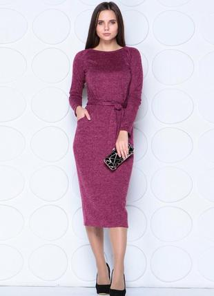 Платье малиновое -фиолеттовое с люрексом