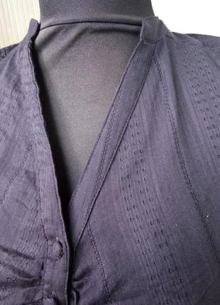 Коричневая блуза из тончайшего хлопка h&m4 фото