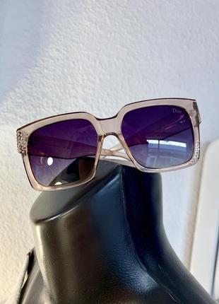 Очки солнечные женские камни прозрачная оправа полароид антиблик 400 uv
