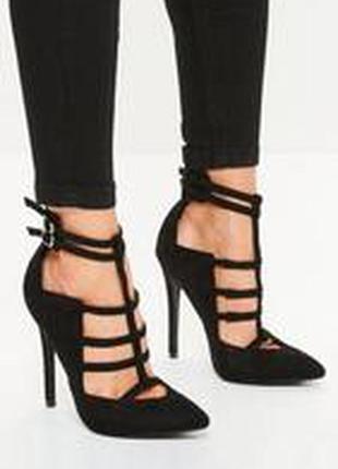 Тотальний розпродаж до 01.08 !чёрные туфли босоножки на шпильке от asos  40 размер