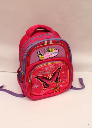 Рюкзак, рюкзак школьный, рюкзак для девочек, ранец, бабочки