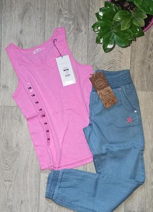 Костюм, комплект, джинсы, майка