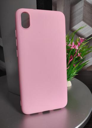 Силиконовый чехол для xiaomi redmi 7a нежно розовый