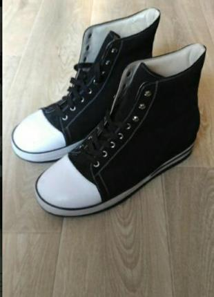 Демисезонные ботинки, натуральная кожа и замш суперкачество размер 44