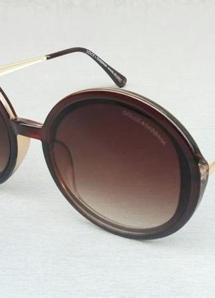 Dolce & gabbana очки женские солнцезащитные округлые коричневые с градиентом