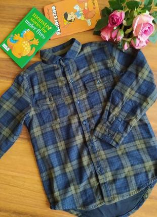 Модная хлопковая удлиненная рубашка next на 5 лет