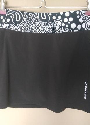 Спідниця для тенісу, спідниця-шорти brooks®  m розмір