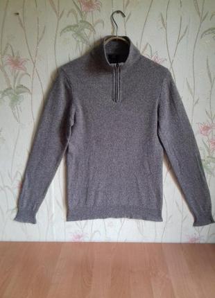 Стильный свитер, джемпер  f&f размер s 100% шерсть