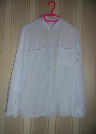 Женская рубашка длинный рукав размер 42// xl