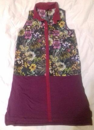 Фирменное летнее платье-халат туника next на девочку или девушку xs