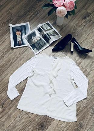 Белая шёлковая блузка блуза marella max mara