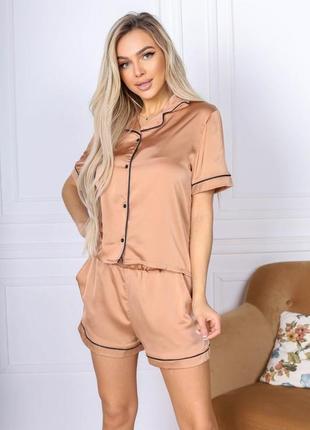 Пижама шорты и рубашка