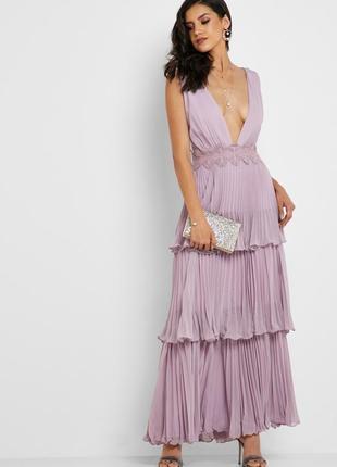 Платье в пол плиссе