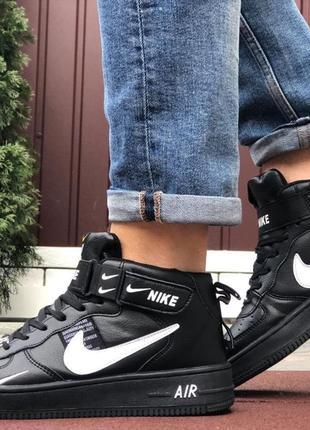 * кросівки nike air force чорного кольору