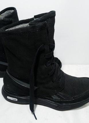 Зимние кожаные сапоги,ботинки reebok (рибок), 36-37р,стелька23,5см,