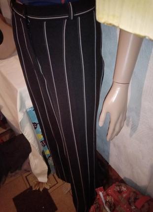 Полосатые брюки catherine широкие прямые штаны в полоску