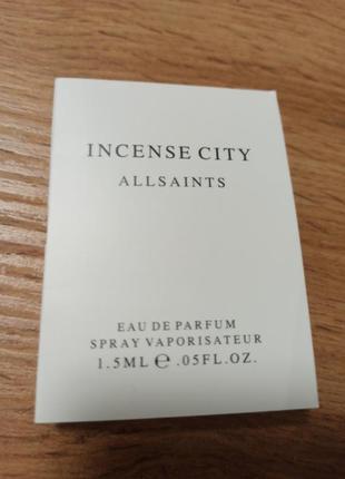 Allsaints incense city парфюмированная вода пробник оригинал
