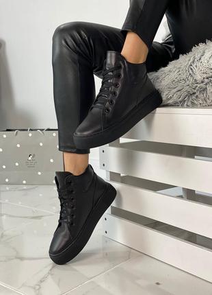 Распродажа! натуральная кожа + набивная шерсть. зимние кроссовки ботинки