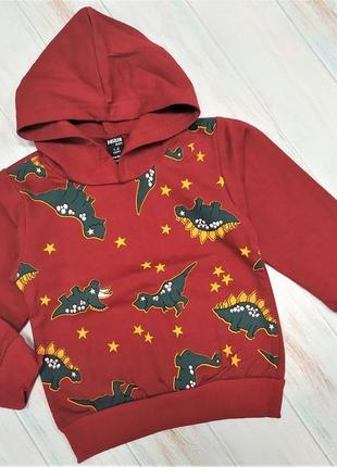 Детская шикарная кофта с капюшоном с динозаврами