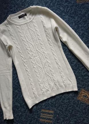 Джемпер из мягкой шерсти мериноса/теплый свитерок, красивый узор (италия)