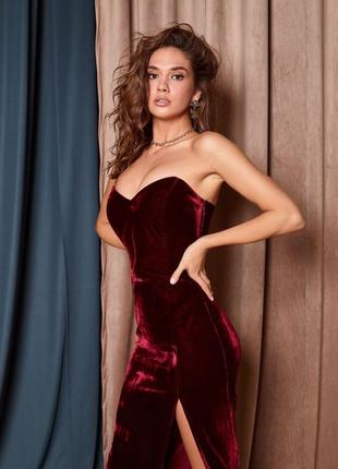 Платье корсетное бархатное2 фото