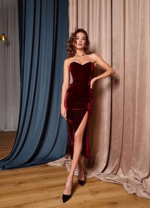 Платье корсетное бархатное1 фото