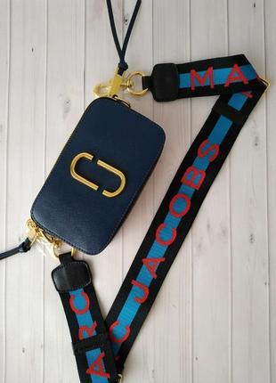 Сумка кросс боди  синия в стиле marc jacobs 💎хит продаж!