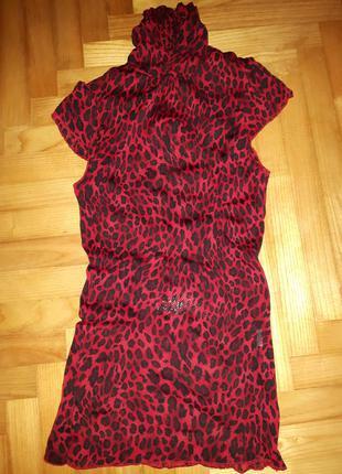 Гольф блуза сетка в хищный принт! one size
