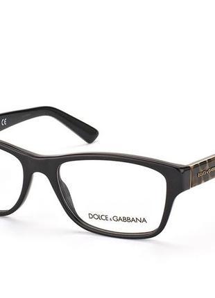 Оправа для очков dolce&gabbana, черная + леопард (limited edition)