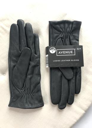 Новые кожаные перчатки avenue🖤размер s