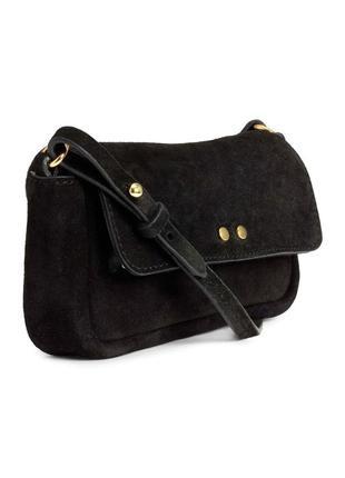 Замшевая сумка на плечо от h&m