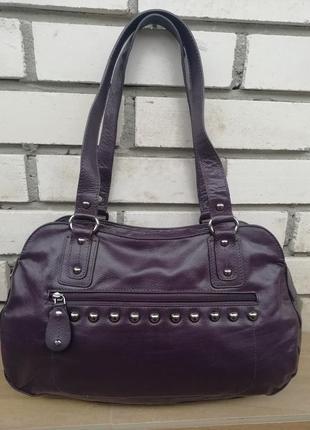 Шкіряна фірмова дизайнерська сумка laura ashley!!! оригінал!!
