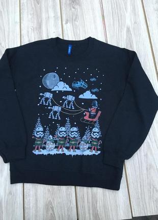 Стильный новогодний свитер h&m актуальный тренд кофта джемпер реглан шерстяной
