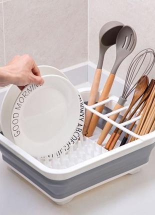 Сушилка подставка для посуды складная