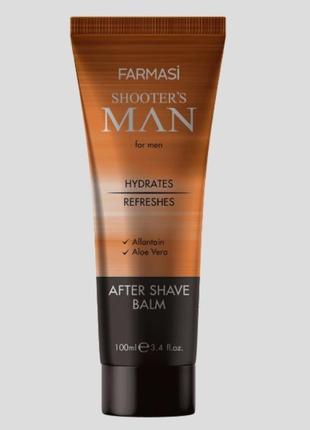 Shooter`s man after shave balm від бренду farmasi лосьйон після гоління