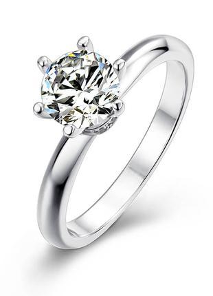 Серебряное кольцо с муассанитом размер 17 и 17.5  сертификат