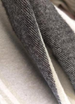 Шерстяной шарф из шерсти кролика клетка полоска салатовый6 фото