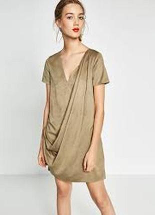 Платье под замш zara