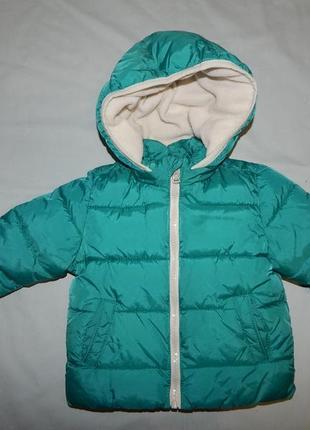Куртка теплая демисезонная модная на 6-9 мес zara baby 74 см
