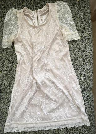 Милое шелковистое платье h&m xs-s