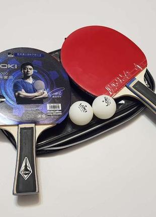 Профессиональные ракетки для настольного тенниса, loki, комплект. новые!