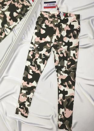 Классные камуфляжные брюки штаны карго размер s