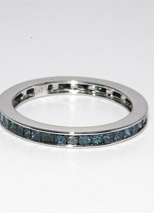 Золотое кольцо 585 проба белое золото бриллианты 1.36 ct размер 16.25